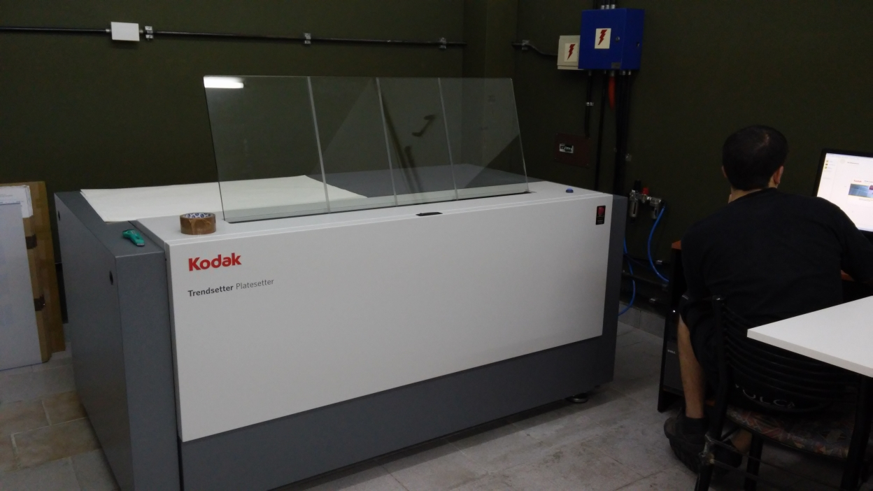 PRE-PRESS SERVICE NEWS - NUEVO CTP KODAK en Avellaneda - Nov 2015 CTP Computer to plate